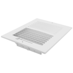 """8"""" x 6"""" (Wall Opening Size) White Two-Way Steel Sidewall/Ceiling Register (682M Series) Product Image"""