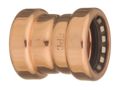 "3/4"" CopperLoc Push Fit Coupling w/ Stop Product Image"
