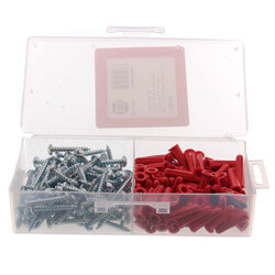 "#10 x 1-1/4"" Plastic Anchor Kit with Drill Bits (100 Screws/Anchors) Product Image"