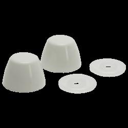 White Toilet Bolt Caps Product Image
