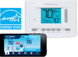 "BlueLink Smart Wi-Fi Universal Programmable Thermostat, 3"" Display (3 Heat/2 Cool) Product Image"