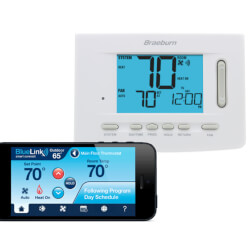 """BlueLink Smart Wi-Fi Universal Thermostat<br>5"""" Display (3 Heat/2 Cool) Product Image"""