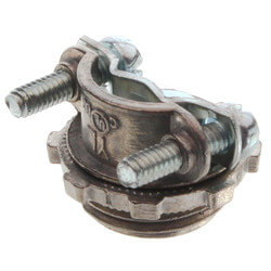 "3/8"" Metallic Romex Connector for 1/2"" Knockouts Product Image"