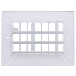 """6"""" x 4"""" (Wall Opening Size) White Commercial Supply Register (821 Series) Product Image"""