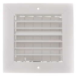 """6"""" x 6"""" (Wall Opening Size) White Commercial Supply Register (821 Series) Product Image"""