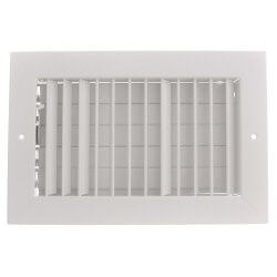 """10"""" x 6"""" (Wall Opening Size) White Commercial Supply Register (821 Series) Product Image"""