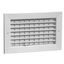 "10"" x 6"" (Wall Opening Size) White Commercial Supply Register (831 Series) Product Image"