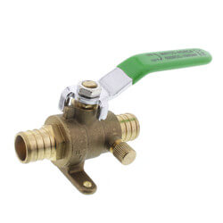 "3/4"" PEX Ball Valve w/ Waste Drain & Drop Ear Elbow Product Image"