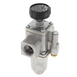 "1/2"" X 1/2"" Gas Safety Valve, Straight Through<br>w/ Plugged Rear Inlet Product Image"