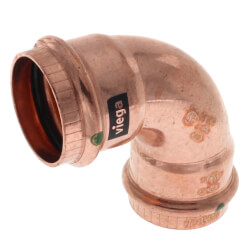 """1-1/4"""" Propress Copper<br>90 Elbow Product Image"""