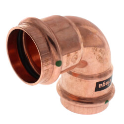 """1-1/2"""" Propress Copper<br>90 Elbow Product Image"""