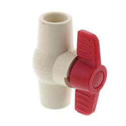 """1/2"""" 771 CPVC Ball Valve - Solvent Ends Product Image"""