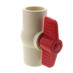 """1"""" 771 CPVC Ball Valve - Solvent Ends Product Image"""