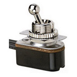 On-Off SPST Short Ball Bat Handle Toggle Switch with Wire Leads (125/250V) Product Image