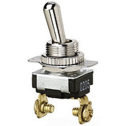 2-Terminal On-Off SPST Bat Toggle Switch with Screw Term. (120/240V) Product Image