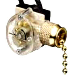 On-Off SPST Brass Pull Chain Switch with Wire Leads (125/250V) Product Image