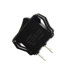 On-Off SPST Black App. Rocker Switch with Spade Termination (125/250V) Product Image