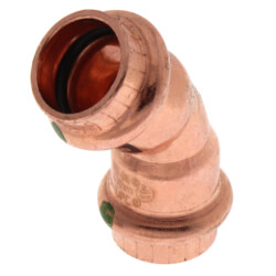 """1/2"""" Propress Copper<br>45 Elbow Product Image"""