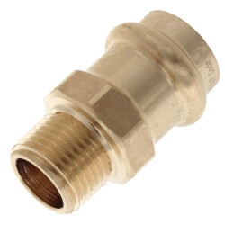 """1/2"""" ProPress x 3/8"""" Male Bronze Adapter (Lead Free) Product Image"""