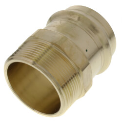 """2"""" ProPress x Male Bronze Adapter (Lead Free) Product Image"""