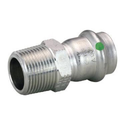 "1/2"" Press x 1/2"" MPT ProPress 316 Stainless Steel Adapter Product Image"