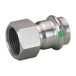 "1/2"" Female ProPress 316 Stainless Steel Adapter Product Image"