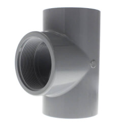 "1/4"" CPVC Schedule 80 Tee (Socket x FPT) Product Image"