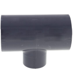 """1"""" x 1"""" x 1/2"""" PVC Schedule 80 Reducing Tee (S x FPT) Product Image"""