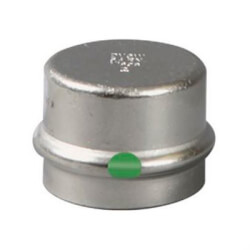 "1/2"" ProPress 316 Stainless Steel Cap w/ EPDM Seal Product Image"