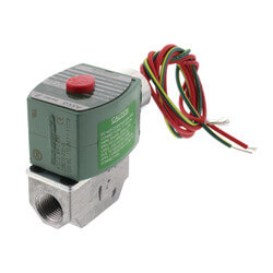 "3/8"" Normally Closed Gas Shutoff Valve, 1.2 Cv (64,400 BTU) Product Image"