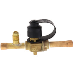 "3/8"" ODF BVS-038 Refrigeration Ball Valve with Access Valve Product Image"