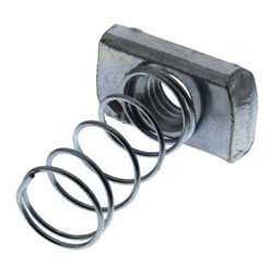 "1/2"" Electro-Galvanized Strut Nut (Regular Spring) Product Image"