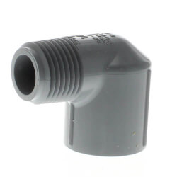 """1/4"""" MPT x 1/4"""" FPT<br>CPVC Schedule 80 90° Street Elbow Product Image"""