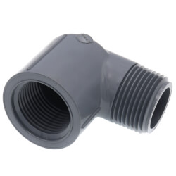 """3/4"""" MPT x 3/4"""" FPT<br>CPVC Schedule 80 90° Street Elbow Product Image"""