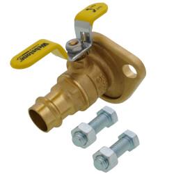 "3/4"" Press x Flange High Velocity Isolator w/ Rotating Flange Product Image"