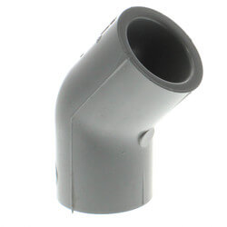 """1/2"""" Socket CPVC Schedule 80 45° Elbow Product Image"""