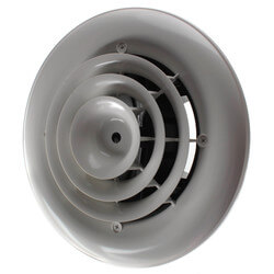 "MV360S Ceiling Diffuser<br>w/ Round Grille (6"" x 6"") Product Image"