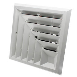"MV2S Ceiling Diffuser<br>w/ 2-Way Grille (6"" x 6"") Product Image"