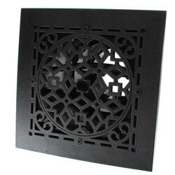 "MVASB Ceiling Diffuser w/ Antique Black Grille<br>(6"" x 6"") Product Image"