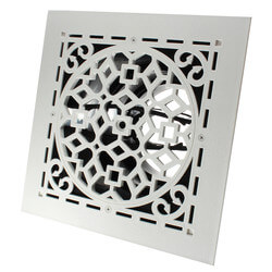 "MVAW Ceiling Diffuser w/ Antique White Grille<br>(8"" x 8"") Product Image"