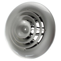 "MV360 Ceiling Diffuser<br>w/ Round Grille (8"" x 8"") Product Image"