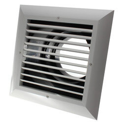 "MXE Ceiling Diffuser<br>w/ 1-Way Exhaust/Grille<br>(8"" x 8"") Product Image"