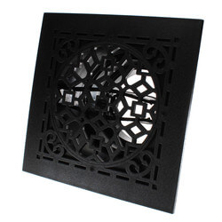 "MVAB Ceiling Diffuser w/ Antique Black Grille<br>(8"" x 8"") Product Image"