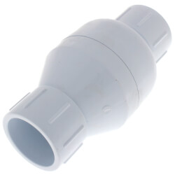 """1-1/4"""" White Spring Check Valve (Solvent) Product Image"""