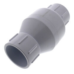 """2"""" White Spring Check Valve (Solvent) Product Image"""