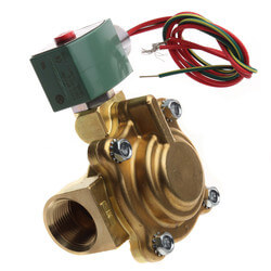 "1"" NPT 2-Way Normally Closed Solenoid Valve, 11.5 CV (120/60VAC) Product Image"