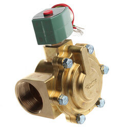 "1-1/2"" NPT Normally Closed 2-Way Solenoid Valve (120/60VAC) Product Image"