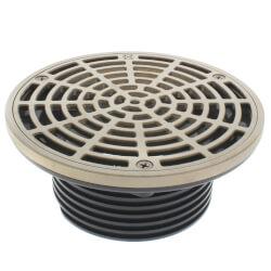 """4"""" Sch. 40 Hub Connection Adj. Floor Drain w/ Nickel Bronze Strainer, 6.5"""" Top Product Image"""