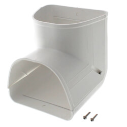 """4.5"""" 90° Inside Vertical Elbow - LCI122W (White) Product Image"""