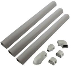 "4.5"" Gray Wall Duct Kit - LDK122G (12 Ft Kit) Product Image"
